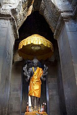 Vishnu statue at Angkor Wat, UNESCO World Heritage Site, Angkor, Siem Reap, Cambodia, Indochina, Southeast Asia, Asia