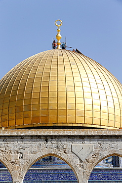 The Dome of the Rock, on Jerusalem's Temple Mount, UNESCO World Heritage Site, one of the holiest shrines in Islam, Jerusalem, Israel, Middle East