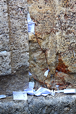 Women's section of the The Western Wall, Jerusalem, Israel, Middle East