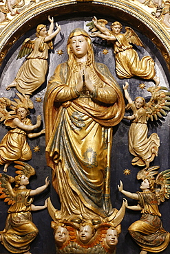 Ascension of the Virgin Mary statue in the Mosque (Mezquita) and Cathedral of Cordoba, UNESCO World Heritage Site, Cordoba, Andalucia, Spain, Europe