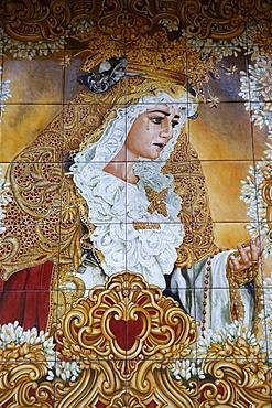 Virgin Mary mosaic, Cordoba, Andalucia, Spain, Europe
