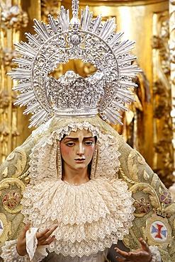 Statue of the Virgin Mary in a Cordoba church, Cordoba, Andalucia, Spain, Europe