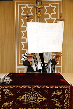 Reading of the Torah in Beth Yaacov Synagogue, Paris, France, Europe