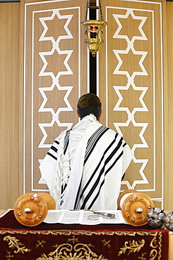 The Torah Ark (Aron Kodesh), Beth Yaacov Synagogue, Paris, France, Europe