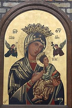 Virgin and Child icon, Zonnebeke, West Flanders, Belgium, Europe