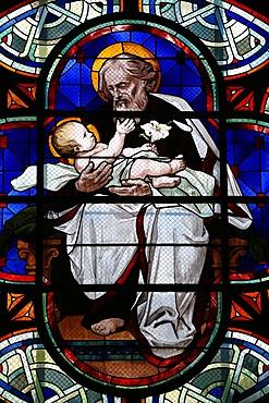 St. Joseph and the child Jesus, Paris, France, Europe