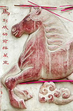 Chinese astrological sign, White Cloud Temple, Beijing, China, Asia