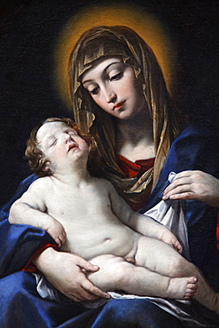 Virgin with child by Francesco Gessi, painted 1624, Paris, France, Europe