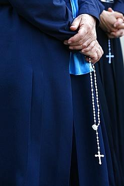 Catholic nuns, Lourdes, Hautes Pyrenees, France, Europe