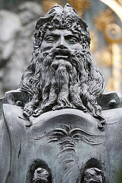 Art Nouveau statue, Otto Wagner Villa I, Vienna, Austria, Europe