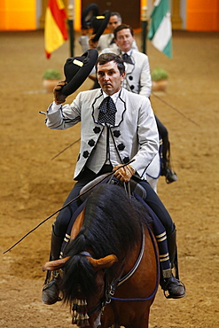 The Royal Andalusian School of Equestrian Art show, Jerez, Andalucia, Spain, Europe