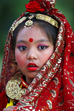Nepalese traditional dance, Festival of Nepal, Grande Pagode de Vincennes, Paris, France, Europe