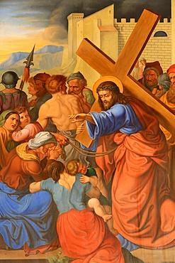 Jesus speaks to women, Maria am Gestade church (Mary at the Shore), Vienna, Austria, Europe