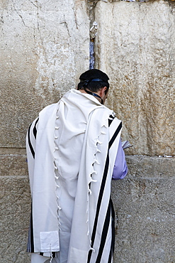 Faithful at the Western Wall, Jerusalem, Israel, Middle East