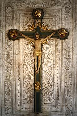 Crucifix in Santa Maria delle Grazie's Basilica, Milan, Lombardy, Italy, Europe