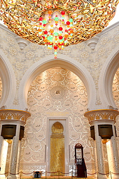 Main Prayer Hall. Sheikh Zayed Grand Mosque, Abu Dhabi, United Arab Emirates, Middle East