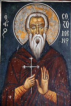 Fresco in Panagia tis Asinou Byzantine church of St. Sosomene, Nikitari, Cyprus, Europe