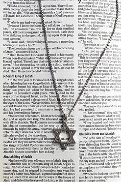 Star of David over Old Testament, Eure, France, Europe