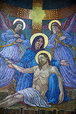 Pieta, Mary and Jesus, Basilica of the Madonna del Sangue, Re, Piedmont, Italy, Europe