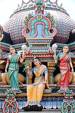 Sri Mariamman Hindu temple, Singapore, Southeast Asia, Asia