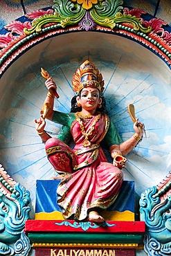 Kaliamman, the same deity as Sri Mariamman, the mother goddess, Mariamman Hindu Temple, Ho Chi Minh City, Vietnam, Indochina, Southeast Asia, Asia