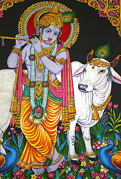 Krishna, Mariamman Hindu Temple, Ho Chi Minh City, Vietnam, Indochina, Southeast Asia, Asia