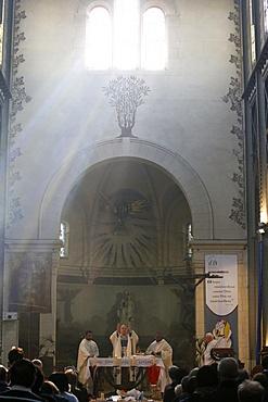 Celebration in Notre Dame du Travail Church, Paris, France, Europe