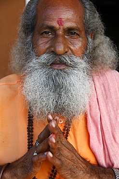 Indian sadhu in Vrindavan, Uttar Pradesh, India, Asia
