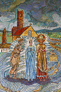 Irish mosaic, Annunciation Basilica, Nazareth, Galilee, Israel, Middle East