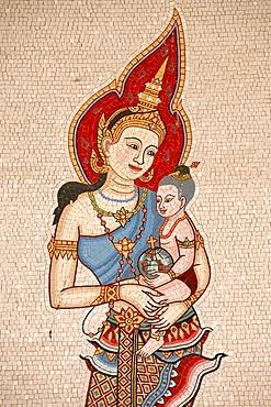Mosaic of Thai Virgin, Annunciation Basilica, Nazareth, Galilee, Israel, Middle East