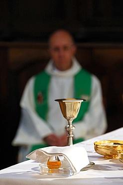 Eucharist table, Haute-Savoie, France, Europe