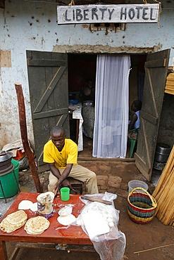 Small restaurant in Kitumba, Uganda, Africa