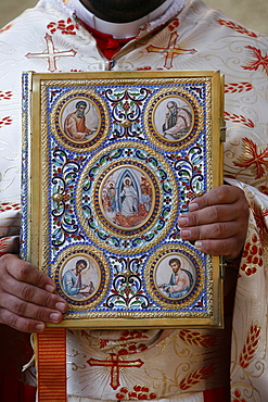 Melkite New Testament, Nazareth, Galilee, Israel, Middle East