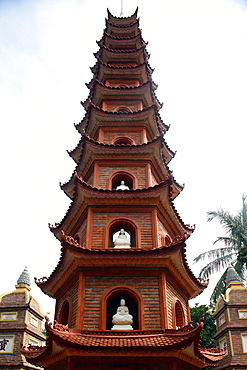 Tran Quoc Pagoda (Chua Tran Quoc), Tower, Hanoi, Vietnam, Indochina, Southeast Asia, Asia