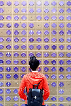 Memorial wall with names of the dead, Church of the Sacred Heart of Jesus (Nha Tho Tan Dinh), Ho Chi Minh City, Vietnam, Indochina, Southeast Asia, Asia