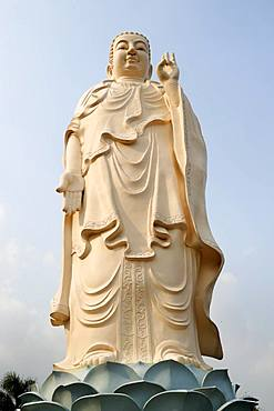 Amitabha Buddha statue, Vinh Trang Buddhist Temple, My Tho, Vietnam, Indochina, Southeast Asia, Asia
