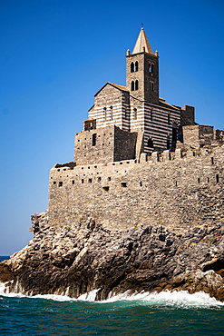 Church of Saint Peter, Portovenere, Cinque Terre, UNESCO World Heritage Site, Liguria, Italy, Europe