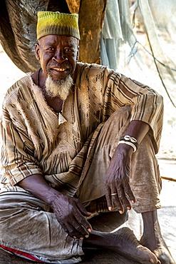 Batammariba man in a Koutammakou village in North Togo, West Africa, Africa