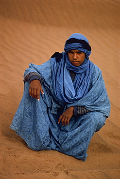 Tuareg in Vallee du Draa, Morocco, North Africa, Africa