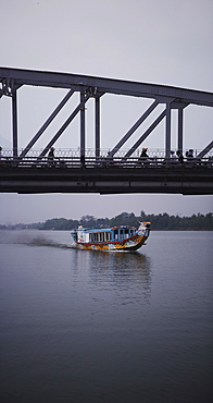 Boat on Perfume River, Hue, Vietnam, Indochina, Southeast Asia, Asia