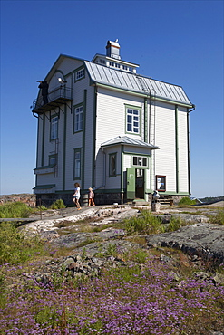 Restaurant and house on Kobba Klintar island in the Aland archipelago, Finland, Scandinavia, Europe