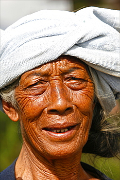Portrait of an old Balinese woman, Bali, Indonesia, Southeast Asia, Asia