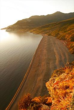 The Gulf of Nonza in Cap-Corse, Corsica, France, Mediterranean, Europe