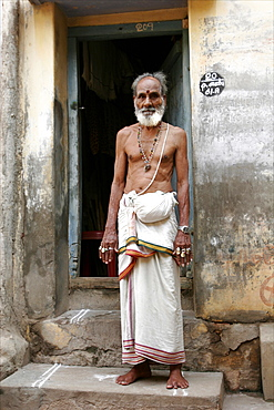 A penitent during the procession in Mysore, Karnataka, India, Asia