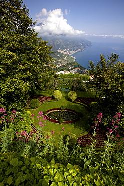 The gardens of the Villa Cimbrone in Ravello, Amalfi coast, UNESCO World Heritage Site, Campania, Italy, Europe