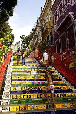 Escadaria Jorge Selaron in Rio de Janeiro, Brazil, South America