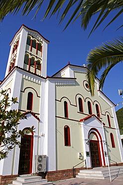 The church of Sami, neo-Classical Venetian style, on the east coast of Cephalonia, Ionian Islands, Greek Islands, Greece, Europe