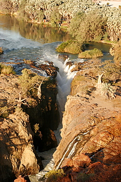 Epupa Falls, on the Kunene River, in Himba country, on the border with Angola, Namibia, Africa