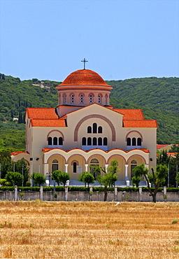 Sissia Monastery on the west coast of Cephalonia, Ionian Islands, Greek Islands, Greece, Europe