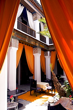 The patio of the Riad Si Said in the medina of Marrakech, Morocco, North Africa, AFrica